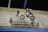 Motocross night — Stock Photo