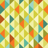 Abstract Retro Geometric seamless pattern with triangles. Vector Illustration — Stock Vector