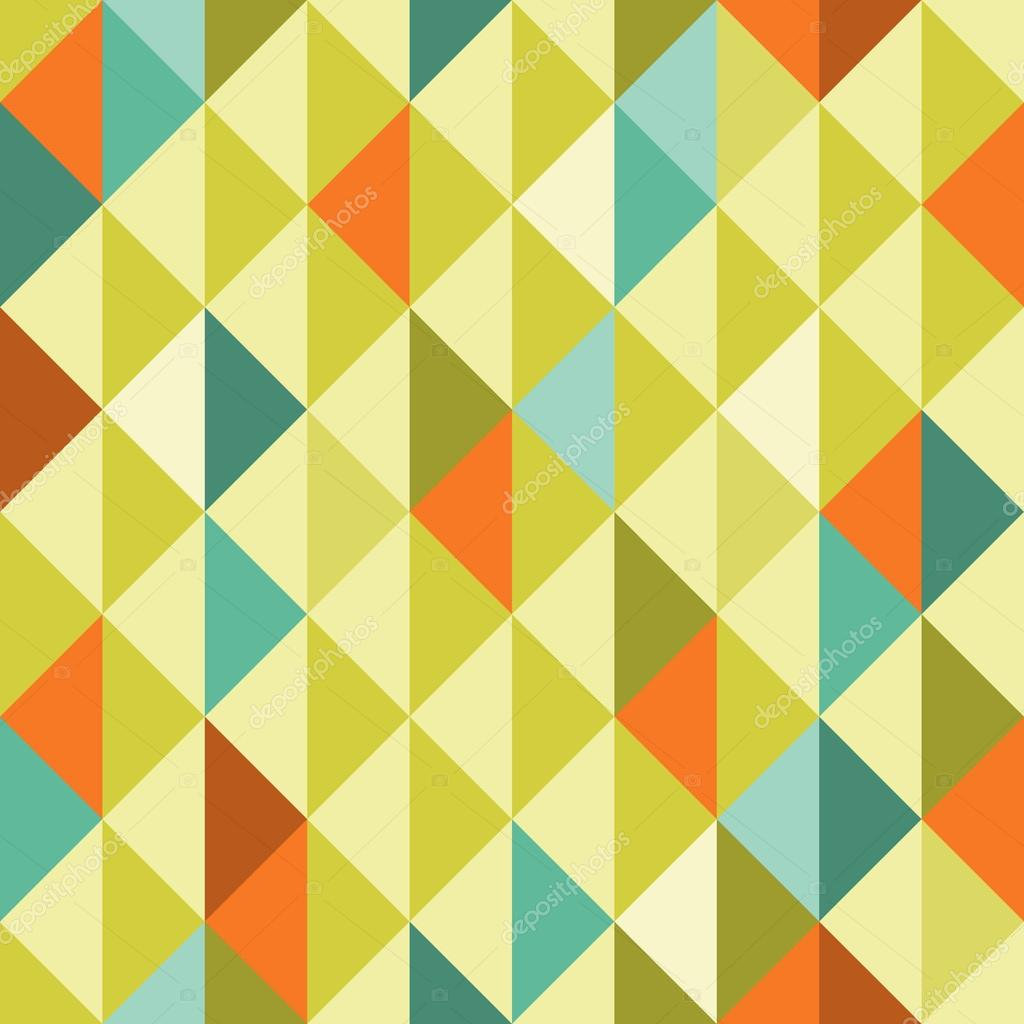 Abstract Retro Geometric seamless pattern with triangles