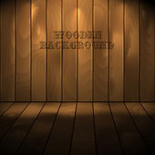 Vector wooden background with place for your text. Eps 10 — Stock Vector