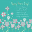 Royalty-Free Stock Vector Image: Happy mothers day card design. vector illustration