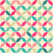 Abstract Retro Geometric seamless round pattern. Vector Illustration — Stock Vector