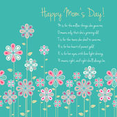 Happy mothers day card design. vector illustration — Stock Vector