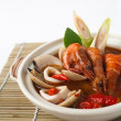 Tom yum spicy seafood soup — Stock fotografie