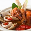 Tom yum spicy seafood soup — Stok fotoğraf
