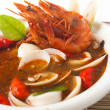 Tom yum spicy seafood soup — Stockfoto