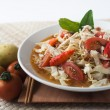 Chicken noodle spicy soup indonesia cuisine — Stock Photo