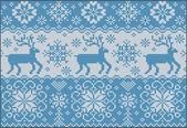 鹿とニット パターン — ストックベクタ