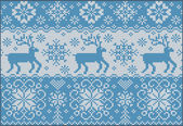 Knitted pattern with deers — Stockvector