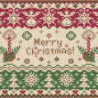 Royalty-Free Stock Vector Image: Merry Christmas! Knitted style