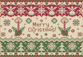 Merry Christmas! Knitted style — Stock Vector