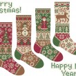 Royalty-Free Stock Imagen vectorial: Knitted socks. Merry Christmas and New Year!