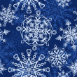 Stock Vector: Background with snowflakes