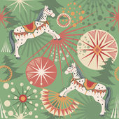 Holiday horses — Vector de stock