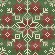 Stock Vector: Knitted Christmas background. Nordic style.