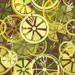 Seamless pattern with lemons - Image vectorielle