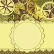 Frame with lemons - Stock Vector