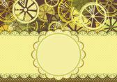 Frame with lemons — Stock Vector