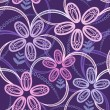 Seamless floral background: Night violet - Stock Vector