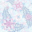 Seamless floral background: Forget-me-not - Stock Vector