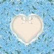 Forget-me-not heart - Stock Vector