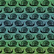 Seamless pattern Snails — Stock Vector