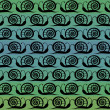 Stock Vector: Seamless pattern Snails