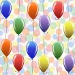 Royalty-Free Stock Vector Image: Seamless pattern with balloons.