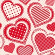 Seamless pattern with dotted hearts.  — Stock Vector