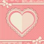 karta z formą serca — Wektor stockowy