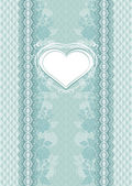 Wedding card with heart frame — Stock Vector