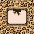 Stock Vector: Card with Leopard fur texture