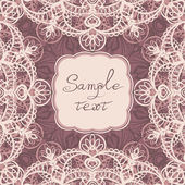 Square frame with lace — Stock Vector