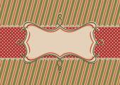 点線のテープでクリスマス フレーム — ストックベクタ