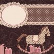 Horse and frame (for your text) — Imagen vectorial