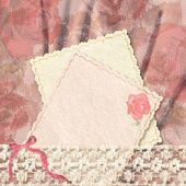 Greetings card and lace — ストック写真
