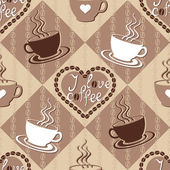 Seamless pattern with coffee cups — Stock Vector