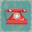 Stock Vector: Vintage telephone