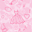 Постер, плакат: Fashion seamless pattern with accessories