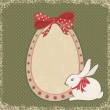 Vintage card with easter bunny and egg form — Stock Vector #44680171