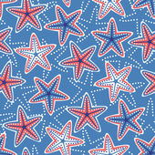 Seamless pattern with stars — Vector de stock