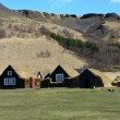 Traditional icelandic Turf Houses near Skógar — Stockfoto
