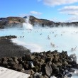 People bathing in the Blue Lagoon in Iceland — Stock Photo