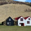 Stock Photo: Traditional icelandic Turf Houses near Skógar