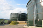 The biogas plant — Stock Photo
