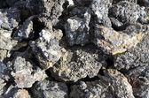 Volcanic black lava in Iceland — Stock Photo
