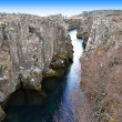 The Thingvellir national park, Althing on the Iceland — Stock Photo