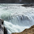 The Golden Waterfall Gullfoss in the Golden Circle — Stock Photo