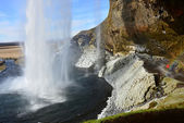 Beautifull Cachoeira seljalandsfoss na Islândia — Fotografia Stock