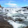 Gullfoss fall on the Iceland Sigrídarstígur waterfall — Stock Photo #31452907